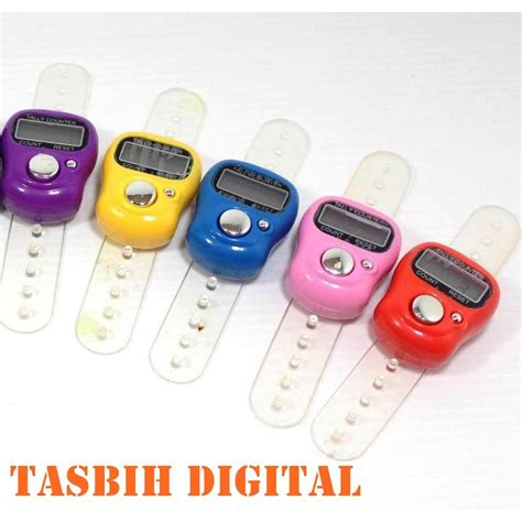 Diskon Tally Counter Digital Finger tasbih digital mini tasbih jari pray counter finger counter elevenia