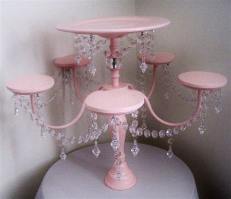 Cupcake Chandelier Stand Pin Chandelier Cake And Cupcake Stand In Baby Pink Cake On