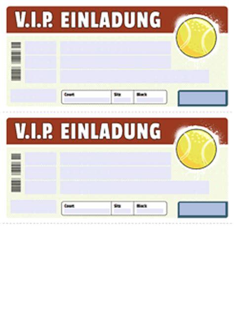 drucke selbst kostenloses vip tennis ticket