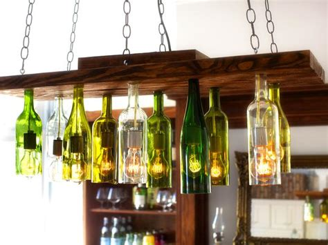 diy light fixtures for the unique and inexpensive light 19 inexpensive creative diy wine bottle lighting ideas