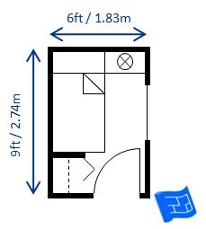 minimum size for a bedroom bedroom size
