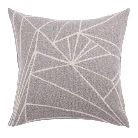 frozen woolen cushion light grey beige fabulous goose