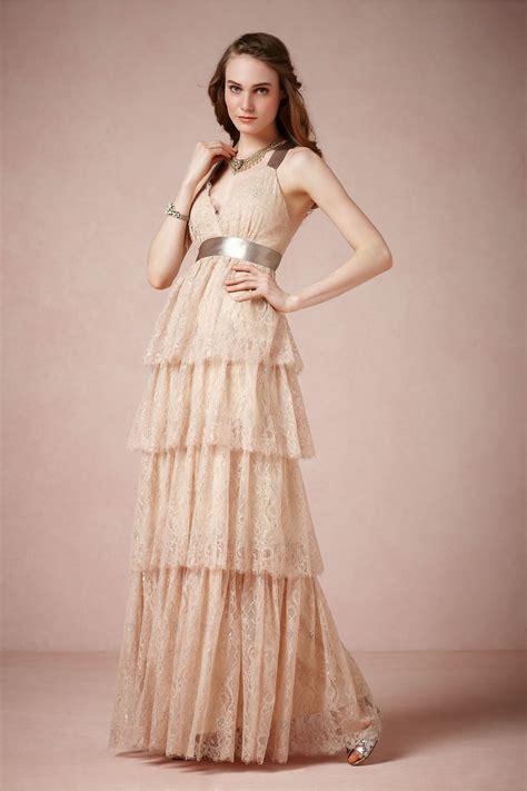 long bridesmaid dress in light blush onewed com