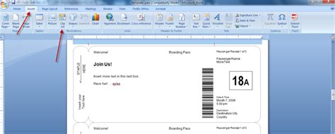 boarding pass template for word boarding passes as gifts le chic