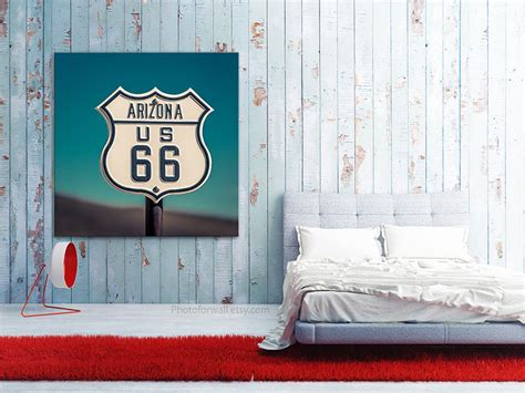 Route 66 Bedroom Decor by Canvas Bedroom Decor Route 66 Sign Arizona Kitchen