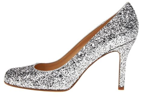 Silver sparkly wedding shoes by Kate Spade   OneWed.com