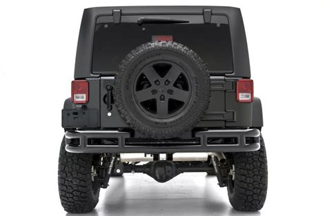 Jeep Wrangler Back Bumper Smittybilt Rear Tubular Bumper With Hitch For 07 16 Jeep