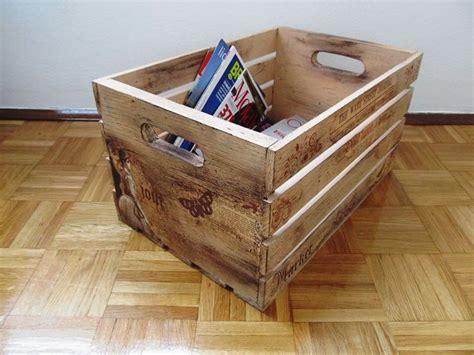 wooden crates decor newspaper box decorative wooden