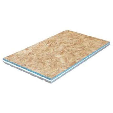 1 x 1 wood floor panels amdry 1 6 in x 2 ft x 4 ft r5 osb insulated subfloor