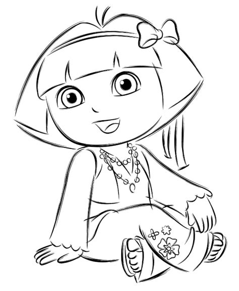 dora coloring page pdf dora colouring sheets pdf printable dora and friends
