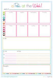 Organizing Schedule Template by Iheart Organizing Free Printables