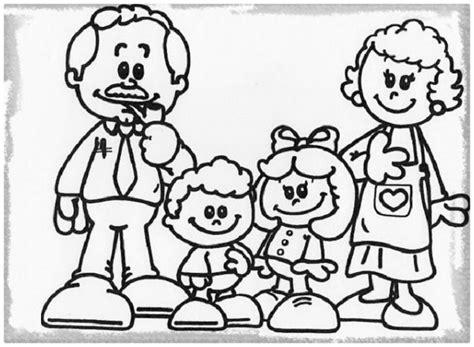 imagenes sobre la familia para pintar dibujos sobre la familia para nios dibujos de la familia