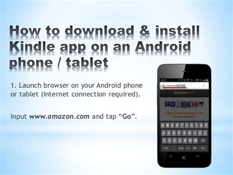 kindle app android how to install kindle app to android