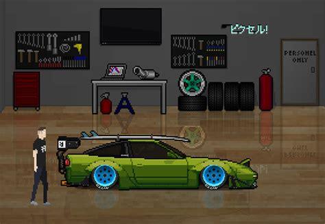 pixel car racer  game waar  als kind van droomden autofans