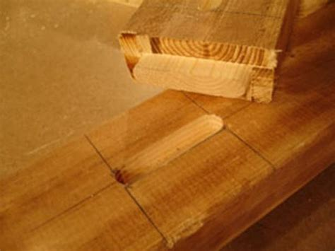 cut mortise  tenon joints  tos diy