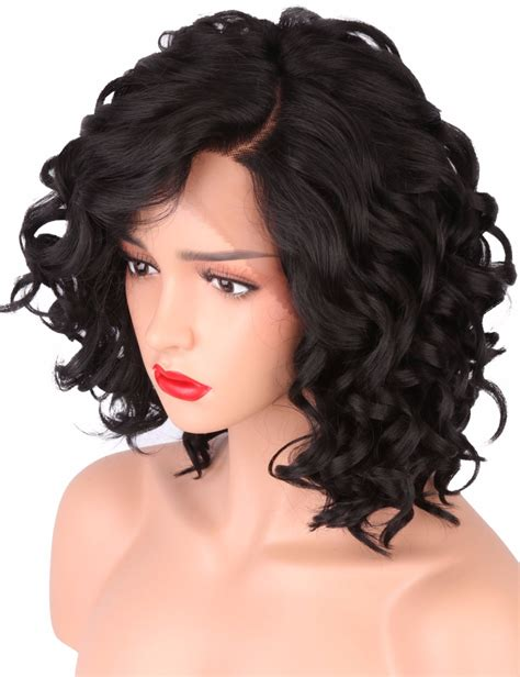 black short body wave hairstyles short bob wigs for black women body wave synthetic lace