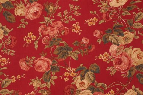 cotton drapery fabric richloom bethany printed cotton drapery fabric in ruby