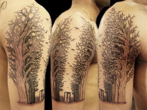 half sleeve tree tattoo designs 17 best ideas about tree arm on forest