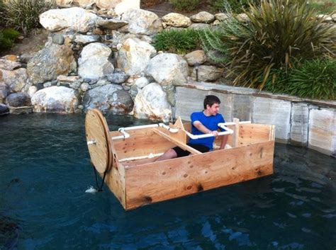how to build a boat for physics class hand crank propellor boat all