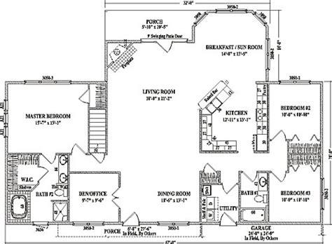 open floor plans ranch alexandria iii by wardcraft homes ranch floorplan