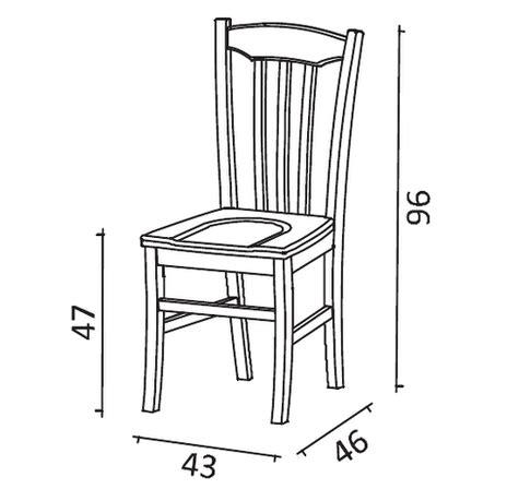 sedia misure sedia da cucina chenzia mobili rustici