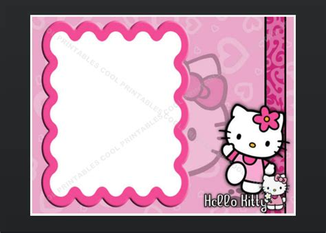 hello kitty blank invitation birthday thank you by