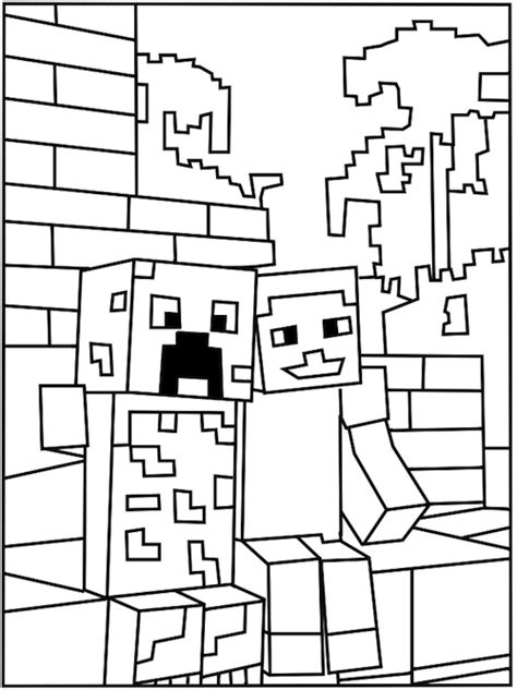 minecraft birthday coloring pages printable minecraft creeper coloring page activities for