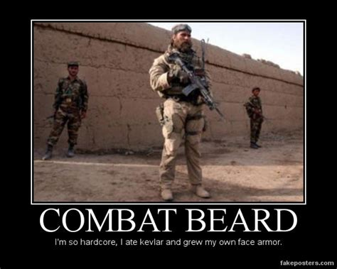 Funny Soldier Memes - combat beard demotivational poster fakeposters com