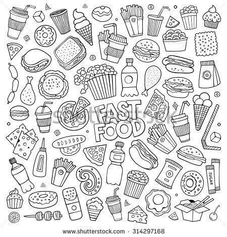 doodle trucos stock vector sketchy vector doodle set