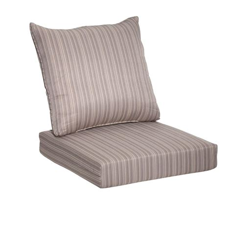 Patio Lounge Chair Cushions Hton Bay Saddle Stripe 2 Seating Outdoor Lounge Chair Cushion 7292 04241711 The