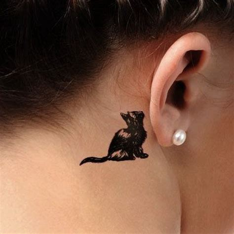 cat tattoo behind ear 70 pretty behind the ear tattoos for creative juice
