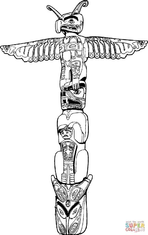 Totem Pole coloring page | Free Printable Coloring Pages