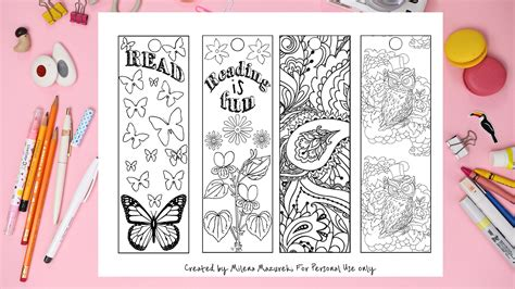 printable bookmarks for elementary students free coloring bookmarks for back to school