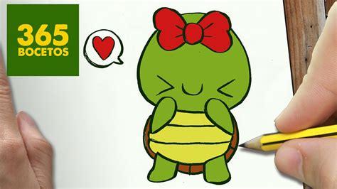 imagenes de tortugas faciles para dibujar como dibujar tortuga kawaii paso a paso dibujos kawaii