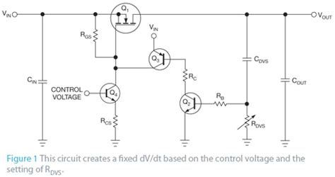 how to precharge a capacitor simple circuit controls the rate of voltage change across a capacitor or another load edn