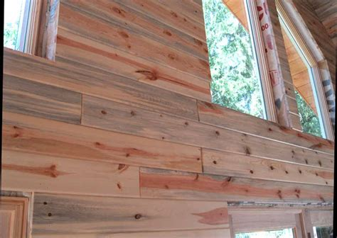 stained wood panels blue stain pine paneling tiny house dream pinterest