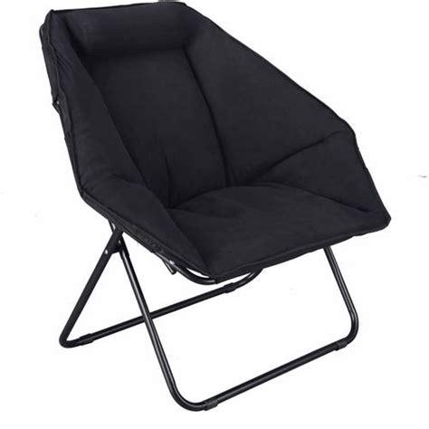 black folding saucer moon hexagon chair cozy seat for tv