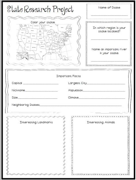 Elementary State Report Template State Report Worksheet Calleveryonedaveday