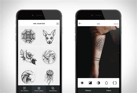 tattoo hunter app previewing tattoo platforms digital augmented reality