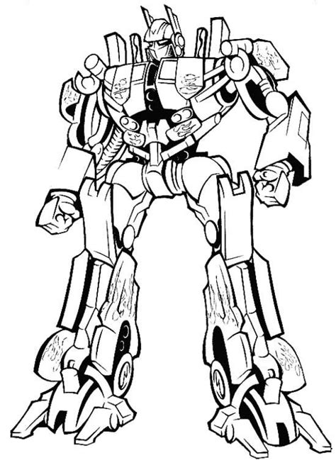 prime transformers coloring page coloring pages