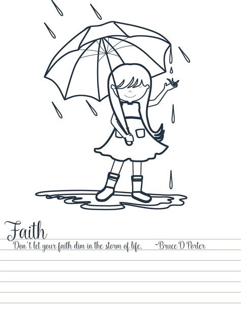 lds yw coloring pages young women personal progress values coloring pages your