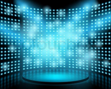 stage backdrop design vector performance stage with lightbulb glowing backdrop wall