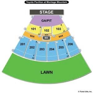 Toyota Pavilion Concerts Montage Mountain Seating Chart Brad Paisley July 22