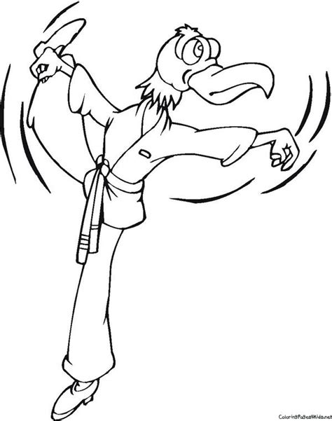 martial eagle coloring pages karate coloring pages for kids karate stuff pinterest
