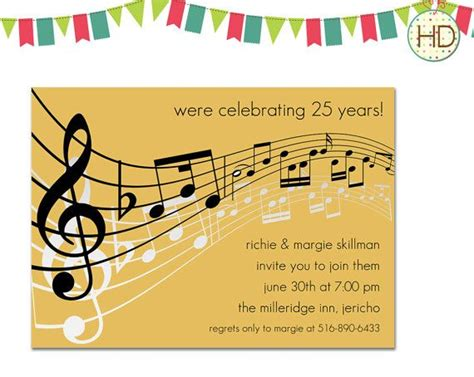 music themed birthday quotes 17 best images about music notes invitation on pinterest