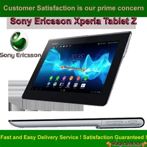 Tablet Sony Ericsson sony ericsson xperia tablet z sim network unlock pin