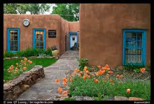 picture photo front yard and pueblo style houses taos santa fe pueblo style homes home style