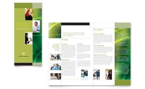 Internet Marketing Tri Fold Brochure Template Word Publisher Microsoft Publisher Brochure Template