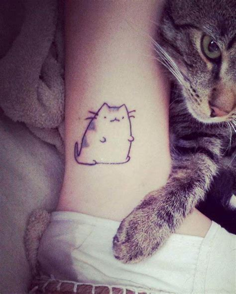 cute cat tattoos cat on ankle tattooimages biz