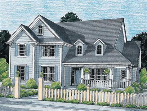 Colonial Garage Plans by Colonial Style House Plans 2086 Square Foot Home 2